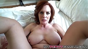 Horny Well-endowed Milf Andy Fucks Her Step Sons Big Cock!
