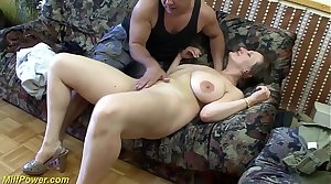 busty german Milf enjoys a fat dick in her ass