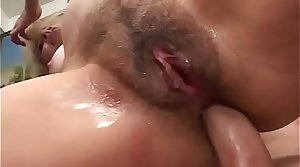 Sexy kirmess MILF Erica Lauren gets her bottomless gulf asshole drilled by latin guy before eating cum