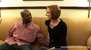 Tiny redhead mature gets fucked wits a big black dick