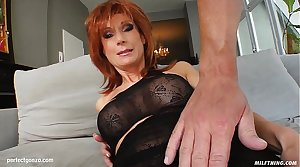 MILF hot grown-up lady Nina S gets a nice cock fuck her