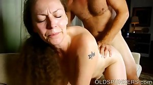 Busty grown up broad enjoys a hot fuck and a sticky facial cumshot