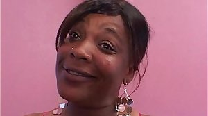 Mature ebony BBW double teamed