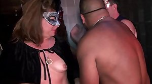 Young swingers-hot MILFs go wild in Trapeze Club-NEW-FULL peel intermittently aloft RED