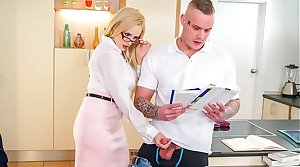 Unconventional TUTOR - Hot MILF Angel Wicky seduces & bangs student