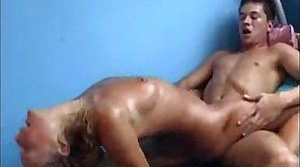 Czech euro milf fucks hard sweats