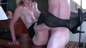 Hot MILF fucks elbow interview involving get the job
