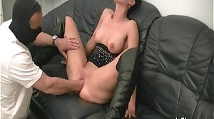 Hot brunette MILF fisted apart from a unseeable brute
