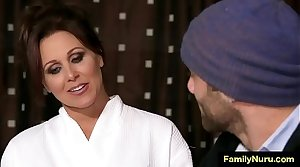 Hot milf mother enjoyment from with stepson