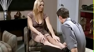 Hot blonde MILF fucked and jizzed on strapon - milfgasm.net