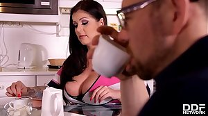 Buxom babe Anissa Jolie craves his long enduring cock inside her mouth & pussy