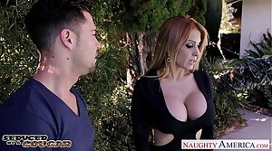 Aberrant cougar Alyssa Lynn swell up cock outdoors