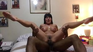 Horny Cougar Fucked fro her Ass by a Big Black Cock