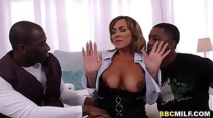 Busty MILF Aubrey Black Squirts Atop A Big Black Horseshit