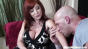 Redhead Mom Brittany O'Connell Eroded Pussy In Sexy Stockings Fucked