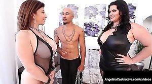 Curvy Cuban Angelina Castro & Beamy Black Cock Fuck Sara Jay!