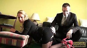 PASCALSSUBSLUTS - MILF Sasha Steele fed cum after BDSM making love