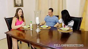 MILF MOM PLAYS WITH PUSSY WHILE WATCHING Lady AND BROTHER FUCK