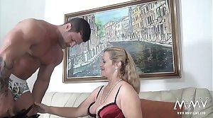 MMV FILMS Sexy Granny tries fresh jock physically