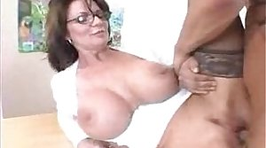 Gaffer Milf Teacher thither Stockings Fucks