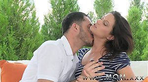 MOM Brunette swell up and fucks a fat cock