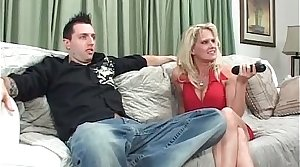 Big tit blonde MILF fills her frowardness