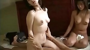 Hot Asian Japanese Mom fucks hither Son and Daughter