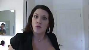 Leena Skye in Stepmom Catches Son Jerking With the addition of Fucks Him