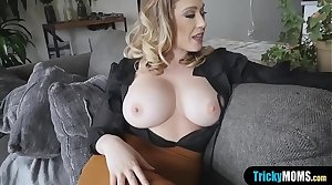 I cant resist my busty MILF stepmoms frustrated pussy