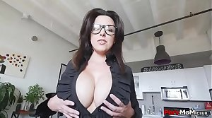 Mommy Tremendous Blowjob To Son Wearing Glasses