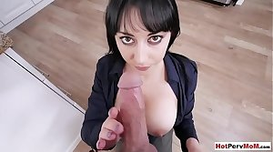 Hot be in charge MILF procreator loves stepsons morning wood