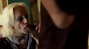 Granny Sucks Obese Black Cock