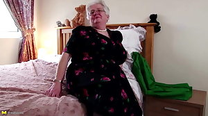 Super granny with big confidential and itchy vagina