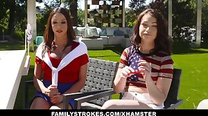 FamilyStrokes - Dispirited Milf Joins Step-Son and Daughter In Three