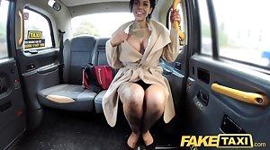 Fake Taxi-cub Tattoos chunky juicy tits together with long legs gets anal