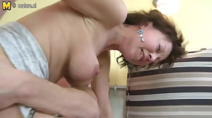 Mature mother fucked hard by her young boy