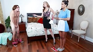 BANGBROS - Stepmom Julia Ann Triad With Maid Abby Lee Brazil