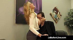 Adult Bestowal Winner Julia Ann Drains A Cock With Hot HandJob!