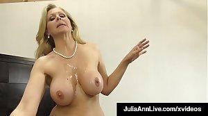 Dick Sucking Cougar Julia Ann Sucks & Strokes Unwitting Cock!