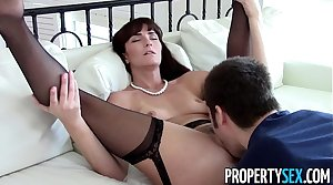 PropertySex - X-rated MILF agent makes dirty homemade sex video with client