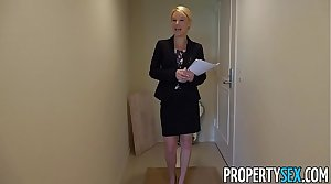 PropertySex - Blonde Southern MILF real property agent gets creampie