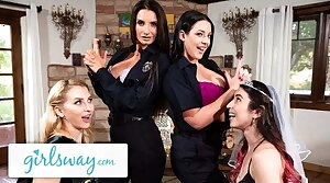 Angela White Turns This Bachelorette Party Into A Foursome