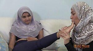 Slutty Desi Hijabis having tribadic fun