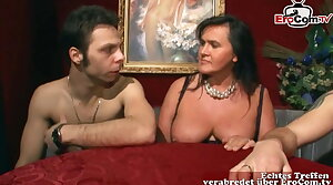 German amateur swinger party with real couple