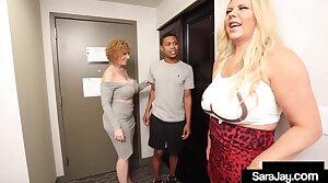 Motherly PAWGs Sara Jay & Karen Fisher Fuck A Hard Teen Dick