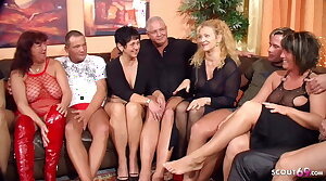 Real German Mature Swinger Party with 4 Hang on Change Wife
