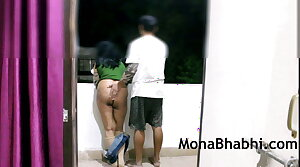 Indian Aunty Outdoor With The brush Husband Majuscule Blowjob Fucking